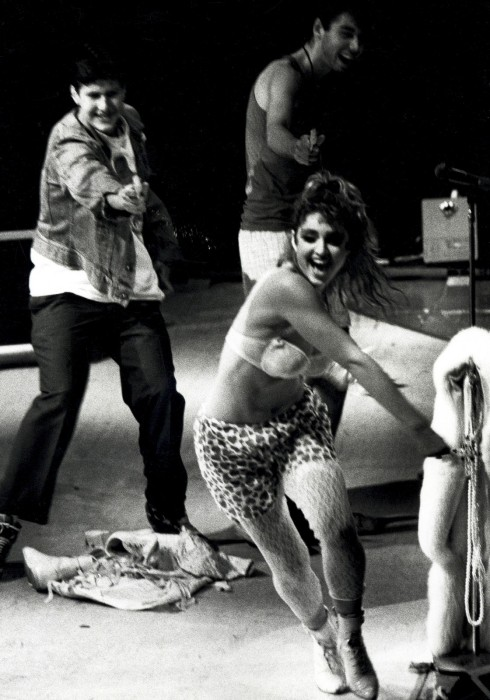 Throwback Thursday: The Beastie Boys chasing Madonna on stage with squirt guns.