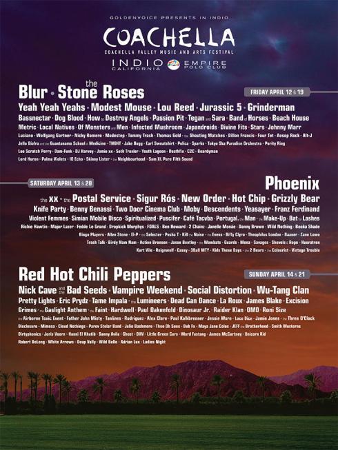 2013 Coachella Line-Up