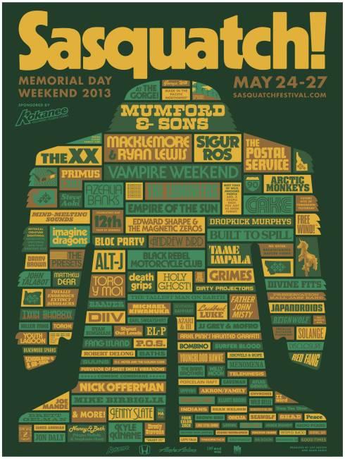 Sasquatch 2013 Line-Up