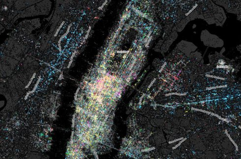 The Languages Of New York, Mapped By Tweets.